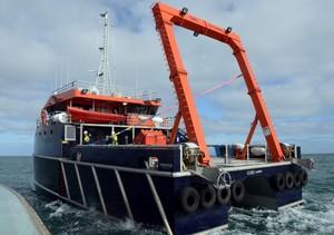 MV GURU With a 20-Tonne A Frame for Marine Towing