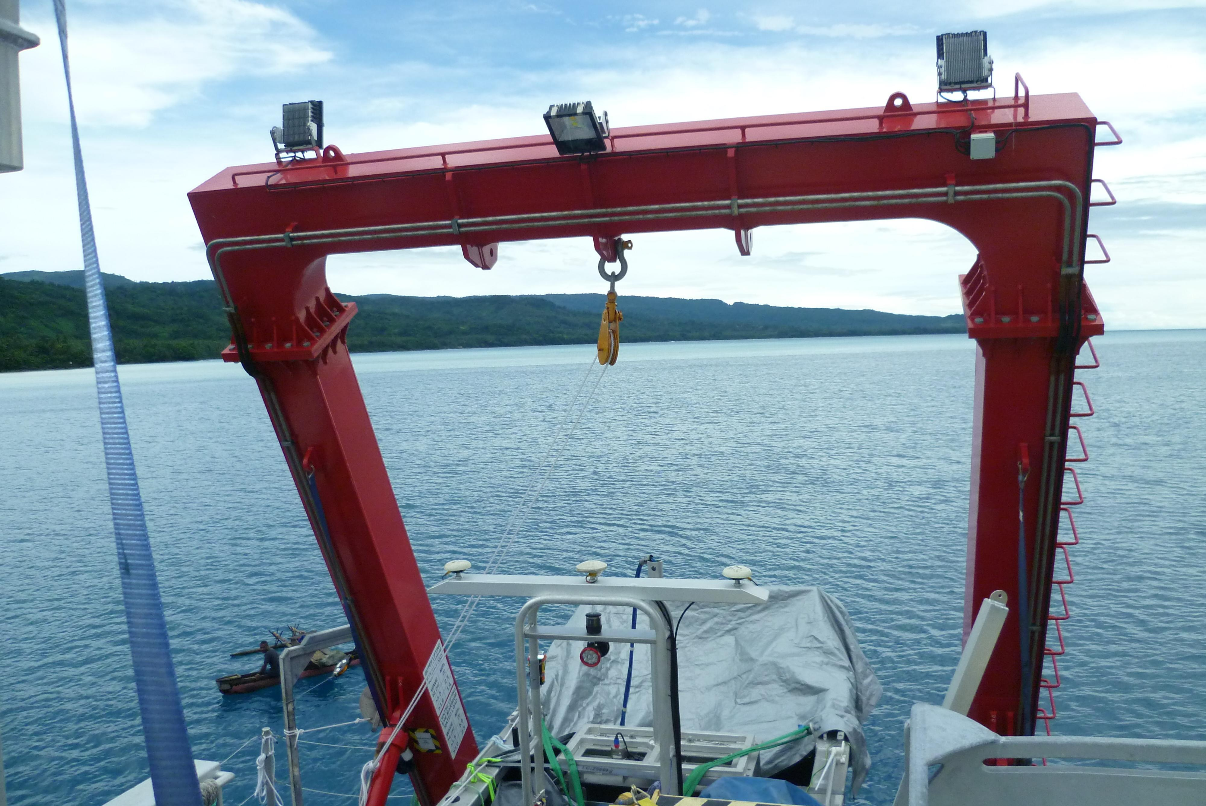 MV GURU With a 20-Tonne A Frame for Marine Towing